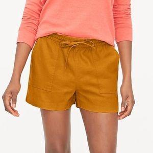 J crew orange linen Draw String Shorts